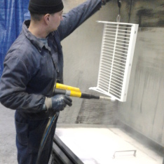 elektrostatické nanášanie termoplastických farieb